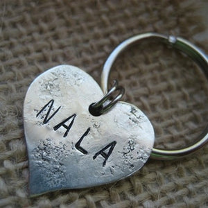 Nala Sterling Heart Dog ID Tag-Customize