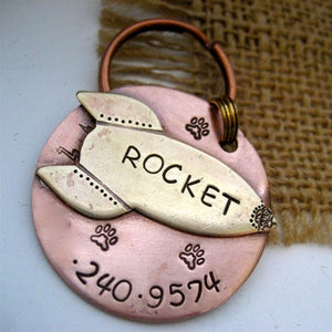 The Rocket Pet ID Tag-Customize
