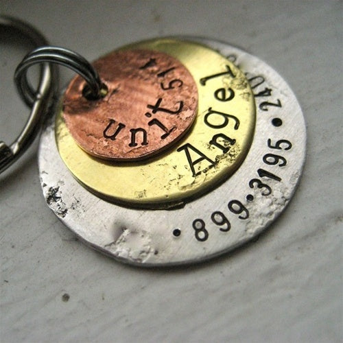 Rustic Triple Disc Pet ID Tag-Customize