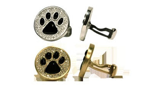 Black Onyx Paw Cufflinks 18k - White or Yellow Gold