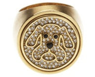 Jowl Dog Ring Diamond 18k - White or Yellow Gold