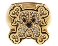 Mean Dog & Cross Ring Diamond 18k - White or Yellow Gold