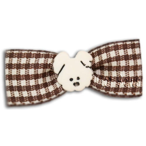 Doggie Days Hair Bow- Brown