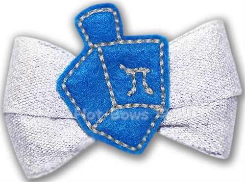 Dreidel Dreidel Hair Bow
