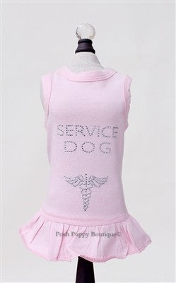 Rhinestone Service Dog Dress- Pink