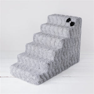 Luxury Pet Stair in Dove Gray - 4 or 6 Step