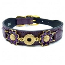 Daisy Dog Collar - Papal Purple