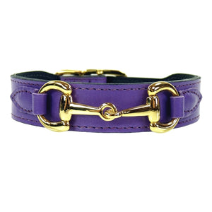 BELMONT Style Dog Collar in Lavender & Gold