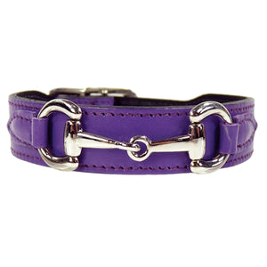 BELMONT Style Dog Collar in Lavender & Nickel