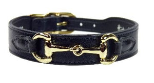BELMONT Style Dog Collar in Jet Black