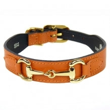 BELMONT Style Dog Collar in Tangerine Gold