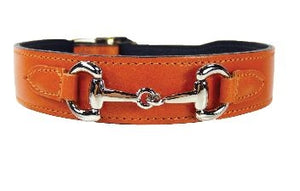 BELMONT Style Dog Collar in Tangerine Nickel