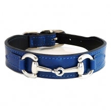 BELMONT Style Dog Collar in Cobalt Blue