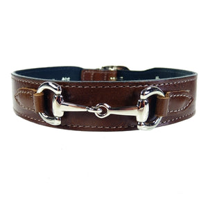 BELMONT Style Dog Collar in Rich Brown
