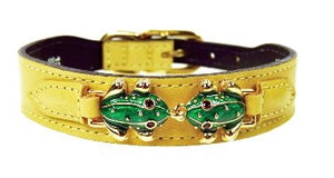Leap Frog Collar in Canary Yellow