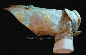 Couture Formal Dog Tuxedo- Majesty in Gold-Ivory