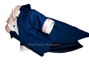Couture Formal Dog Tuxedo- Midnight Blue Sir Lancelot