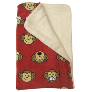 Burgundy Silly Monkey Ultra-Plush Blanket