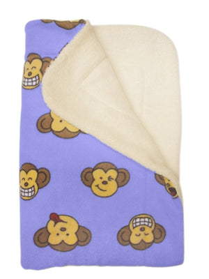 Lavender Silly Monkey Ultra-Plush Blanket