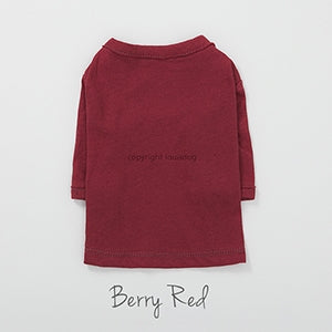 Louis Dog Natural Chic Top in Berry Red