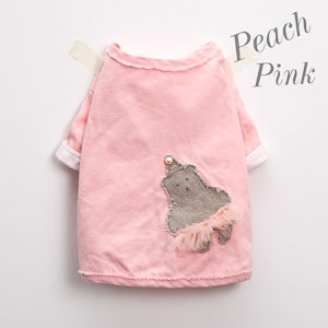 Louis Dog Organic Oxford Jacket in Peach Pink