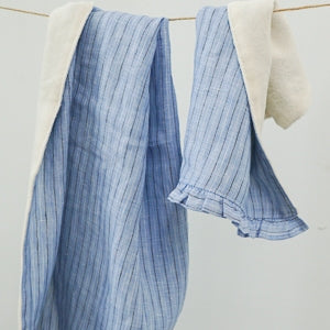 Louis Dog Picnic Towel in Blue Candy Stripes