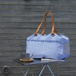 Louis Dog Tosho Bag Picnic in Blue Candy Stripes