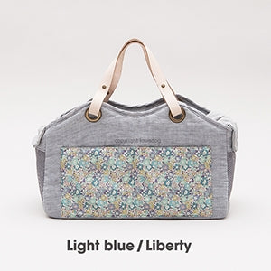 Louis Dog Tote Bag in Linen Light Blue Liberty