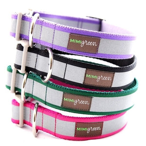 Mimi Green Reflective Collars in Many Colors