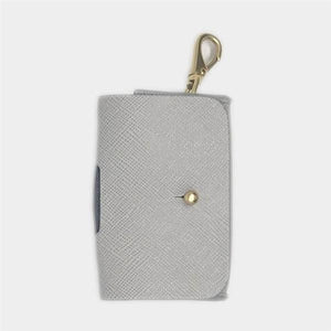 Vegan Saffiano Leather Waste Pouch in Grey