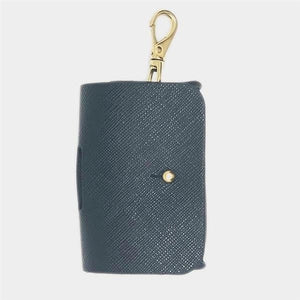 Vegan Saffiano Leather Waste Pouch in Noir