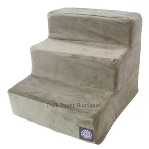 Stone Microvelvet Pet Stairs- 3 or 4 Steps