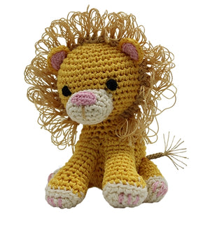 Knit Knacks King Cuddles the Lion Toy