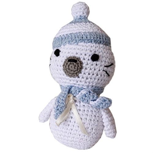 Knit Knacks Sammy the Seal Organic Cotton Small Dog Toy
