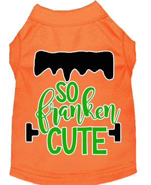 So Franken Cute Screen Print Dog Shirt in Many Colors
