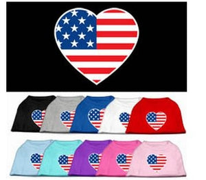 American Flag Heart Shirt- Many Colors