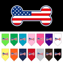 Bone Flag American Screen Print Bandana in Many Colors