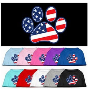 Patriotic Paw Screen Print Shirt- Many Colors