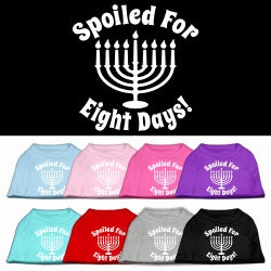 Hanukkah Spoiled for 8 Days Screen Print Shirt in Many Colors