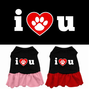 I Heart You Screen Print Dress- 2 Colors