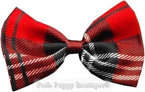 Dog Bowtie-Black and Red Plaid