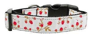 Roses Nylon Ribbon Collars- Many Colors