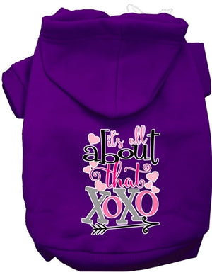 All About that XOXO Screen Print Dog Hoodie in Many Colors