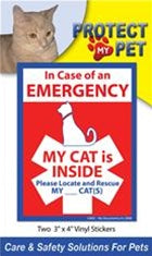 Cat - Fire Emergency Stickers