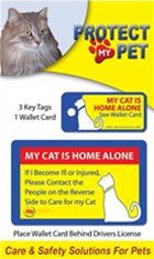 Cat Emergency Wallet Card and Key Tags