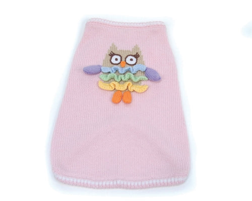 Owl Walk All Over You Sweater - Pink