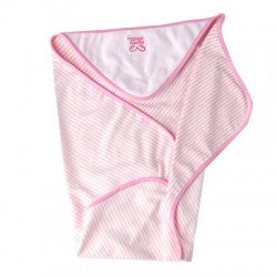 PuppyAngel Beach Hooded Towel in Light Pink
