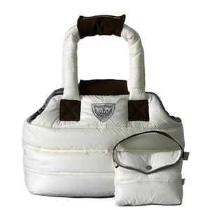 Puppy Angel Love Down Padding Pet Carrier- Ivory