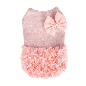 Puppy Angel Luxury Frilled Dress in Pink