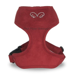Puppy Angel DU ANGIONE Suede Harness (Regular Soft)- Burgundy